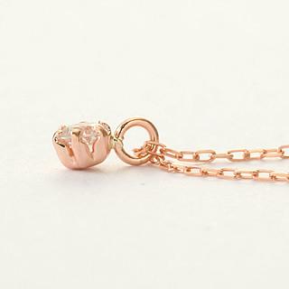 『天然ダイヤモンド0.1ct 18金ネックレス』-4