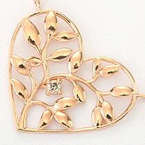 『天然ダイヤモンド0.01ct ハートモチーフ10金ネックレス』-8