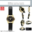 MARC BY MARC JACOBS (mark by MARC BY marc jacobs) Lady's watch MBM1240 HENRY DINKY ヘンリーディンキーブラック black gold