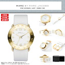 MARC BY MARC JACOBS (mark by MARC BY marc jacobs) Lady's watch MBM1150 AMY (Amy) leather strap white X pearl yellow gold