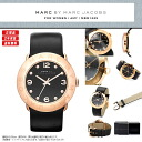 "MARC BY MARC JACOBS (mark by MARC BY marc jacobs) Lady's watch extreme popularity pink gold X black! Super pretty real leather leather belt ""Amy"" appears! MBM1225/MBM-1225 gold"