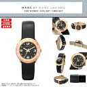 "MARC BY MARC JACOBS (mark by MARC BY marc jacobs) Lady's watch extreme popularity pink gold X black! Super pretty real leather leather belt ""MINI AMY mini-Amy"" appears! MBM1227/MBM-1227 gold real leather leather"