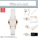 "MARC BY MARC JACOBS (mark by MARC BY marc jacobs) Lady's watch extreme popularity pink gold X white! Super pretty real leather leather belt ""AMY DINKY エイミーディンキー"" comes up! MBM1250/MBM-1250 gold"