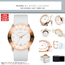 MARC BY MARC JACOBS (mark by MARC BY marc jacobs) Lady's watch MBM-1180/MBM1180 AMY (Amy) white X pink gold