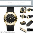 MARC BY MARC JACOBS Marc by Marc Jacobs Womens watch MBM1154 AMY Amy Black × Yellow Gold Leather leather belt