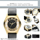 "Skeleton & real leather belt excellent at MARC BY MARC JACOBS (mark by MARC BY marc jacobs) men's lady's man and woman combined use watch attention degree! Super popular ""Henry skeleton"" comes up! MBM1246/MBM-1246 gold gold"
