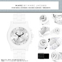 MARC BY MARC JACOBS MBM4573 RAVER CHRONO Labor chronograph men's Marc Jacobs ladies men's women's watch white