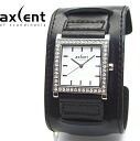 AXCENT OF SCANDINAVIA / LADIE'S WATCH / X17741-137S / BROADBAND / BLACK LEATHER