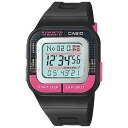 The CASIO (Casio) POP RUNNER (pop runner) Lady's / kids watch (overseas model) SDB100-1B/SDB-100-1B SPORTS GEAR (sports gear) PINK/BLACK (pink / black / black) same model: SDB100J-1BJF