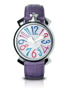 GaGa MILANO ( ガガミラノ ) ( マニュアーレ ) MANUALE mens / ladies watch ( men unisex )5020.7(40MM)MOTHER OF PEARL×VIOLET MULTICOLOR ( mother of Pearl x violet multi color ) MADE IN ITALY made in Italy
