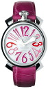 GaGa MILANO (gagamilano) 50206 MANUALE (manual) ladies watch boys size 5020.6 (40 MM) white shell-pink multi, a stylish and cute white, black