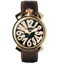 GaGa MILANO (gagamilano) MANUALE (manual) ladies watch 5021.3 (40 MM) black shell gold PVD specifications Brown 50213