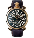 GaGa MILANO ( gagamilano ) 48 mm large cases & book leather leather belt ' MANUALE ( manual )5011.05S 5011.5 ( dark blue x pink ) ' ultra popular model emergency in stock! Men's men's hands, volume serial NO into