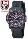 LUMINOX / LADIE'S WATCH / 7065 U.S. NAVY SEALs DIVE WATCH / COLOR MARK SERIES / T25 NOTATION / BLACK×PINK / SWISS MADE