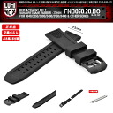 LUMINOX (Lumi Knox) FN.3050BO.20 (belt 22mm in width) ORIGINAL REPLACEMENT BAND (pure exchange band for watches) RUBBER (rubber) model (3000,3040,3050,3080,8400 series others) for BLACK (black)