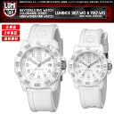 Two LUMINOX Lumi Knox 3057.WO/7057.WO whiteout superman mind color mark series man and woman pair watch set navy Shields wonder-like visibility, waterproofness, durability, lightness!