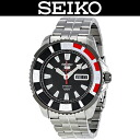 SEIKO 5 SPORTS / MEN'S WATCH / SRP207J1 / SRP-207J1 / AUTOMATIC MOVEMENT / WR.100M / STAINLESS BELT / 24 JEWELS / METALLIC RED / MADE IN JAPAN