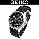 ( Seiko ) SEIKO men's watches (overseas model) SND399P/SND-399P MILITARY CHRONOGRAPH (military chronograph )WR.100M(100M waterproof) NYLON BAND (nylon band) BLACK (black) JAPAN MOVEMENT (movement made in Japan)