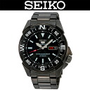 SEIKO 5 SPORTS / MEN'S WATCH / SNZE83J1 / SNZE-83J1 / AUTOMATIC MOVEMENT / WR.100M / STAINLESS BELT / JET BLACK MODEL / 23 JEWELS / MADE IN JAPAN