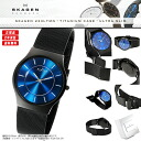 SKAGEN (scar gene) men's / Lady's watch (man and woman combined use) 233LTMN COBALT BLUE (azure blue)