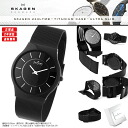 "SKAGEN Skagen watches Nordic born ultra-thin design watch! 6 mm ""ultra slim"" design unisex men's Dancewear 233 LTMB TITANIUM titanium case black"