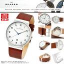 "SKAGEN Skagen watches Nordic born super slim design which! Only 8 mm ""ultra slim"" design men's men's SKW6082 KLASSIK classic leather leather belt Brown."
