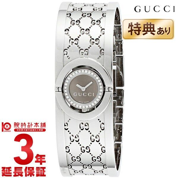 グッチ 112シリーズ THE TWIRL 10Pダイヤモンドベゼルバングルウォッチ YA112503 レディース