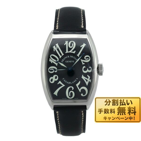 フランクミュラー 5850 CASA カサブランカ SS ブラック 黒革  F.MULLER 5850 CASA 黒/黒革 メンズ