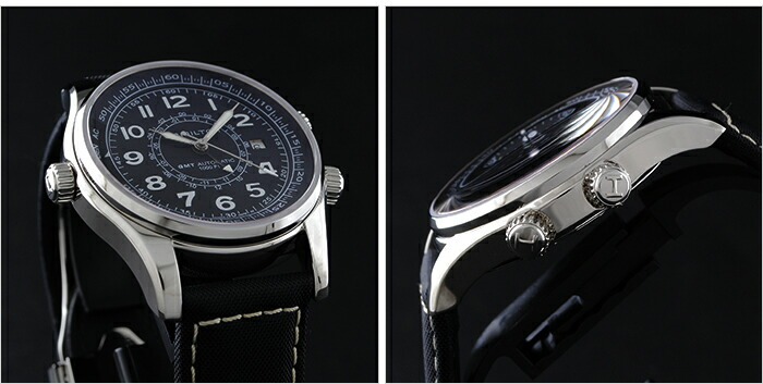 ハミルトン カーキ GMT H77505433 メンズ