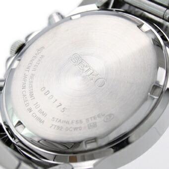 セイコー 逆輸入モデル クロノグラフ 100m防水 SND309P1 メンズ
