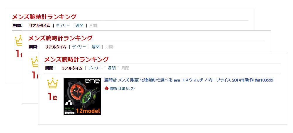 エネウォッチ 105Edition オレンジ  740000226 メンズ