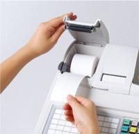 レシート用紙交換のイメージ図