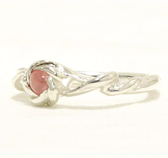 Inca rose Flower & Spiral Silver ring