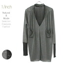 Layered cut V opening ネックギャザーチュニック It cuts off and is a heavy V difference neck gathers tunic.fs3gm