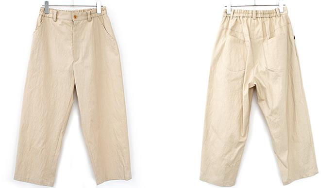コットンリネンストレッチナチュラルリラックスゆったりルーズパンツ 大人可愛いナチュラル服 【select-shop】【NTRL-LADIES】