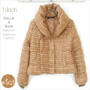 Cute puffy shawl collar リボンブークレ cotton short jacket adult natural clothing women's clothing fashion ladies ♥ plump furry peach beige color rib 05P30Nov13