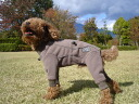 Finland's dog brand, fleece overalls for large dogs