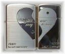 Zippo Zippo lighters Zippo lighter luxury goods: cross-ハートデザインペア heart S1 Zippo regular & slim