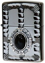 ZIPPO zippo lighter Onyx stone ( Zippo ) lighter metal sculpture popular native metal NM3-BKON (Zippo lighter inner engraving allowed)