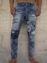 """DSQUARED2 ( dsquared ) """"12 ozDENIM"""" and """"DESTROYED PATCH"""" and """"destroy & patchwork"""" tight by Kerr Jeans!"""