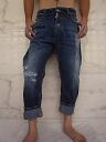 "DSQUARED2 ( dsquared ) ""TORN PERFECT WASH"" and ""BIG silhouette"" repair & brychicropped Jeans ★"