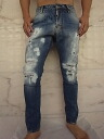 "DSQUARED2 (dsquared2) ""TOM COLLEGE WASH"" ""damage & bleach, hand riper"" twisted Jeans ★"
