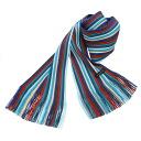 Matsui knit motor Museum-knit scarf / blue