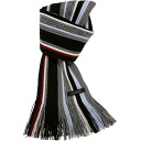 Matsui knit Giken wool stripe lib muffler (100% of wool)