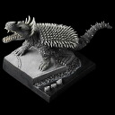 Monster PVC figure Super deformed first anguirus (no garage kits, unfinished painting)
