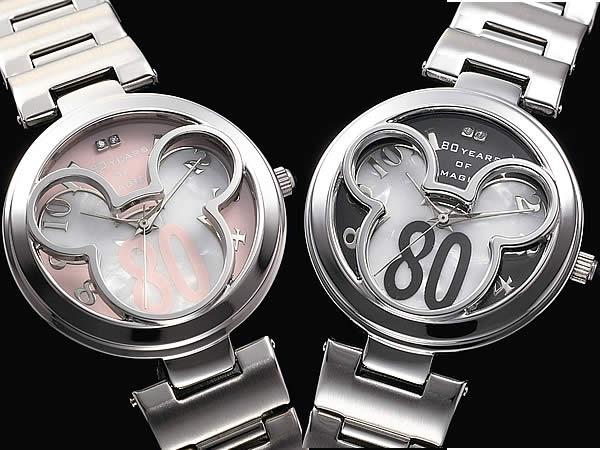 ミッキーマウス 生誕80周年記念時計