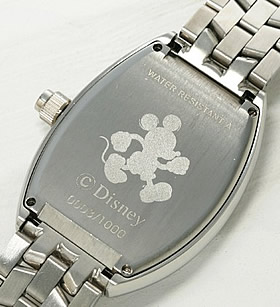 ミッキーマウス ファンタジア上映66周年記念時計 ホワイト裏蓋