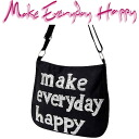 Make Everyday Happy LA BESACE la canvas black / silver