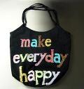 Make Everyday Happy for CABAS PLAYA Hippo Playa bigoted bag black / multi 0413h