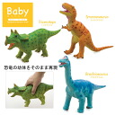 Baby modeling Maki and Dinosaur PVC Figure 3 pieces set (Tyrannosaurus, Triceratops, and Brachiosaurus FDB-001
